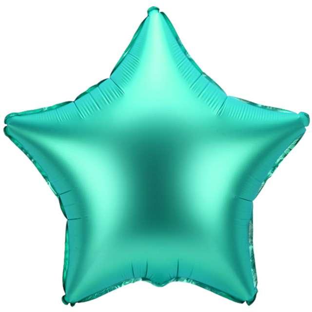 """Balon foliowy """"Gwiazdka"""", zielony satynowy, 19"""" STR"""