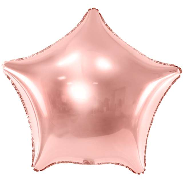 """Balon foliowy """"Gwiazda"""", różowe złoto metalik, 27"""" STR"""