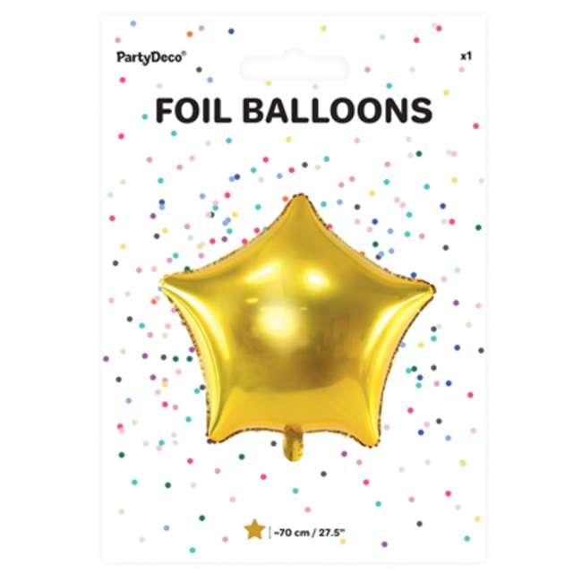 Balon foliowy Gwiazda złoty metalik 27 STR