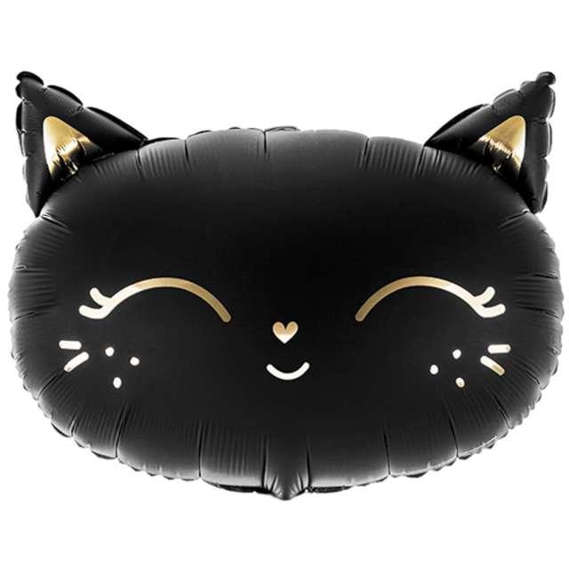 """Balon foliowy """"Kotek"""", czarny, PartyDeco, 19"""" SHP"""