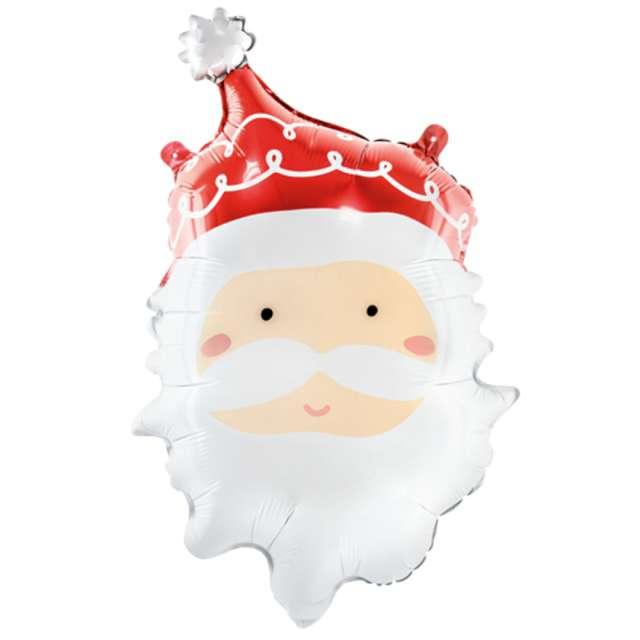 Balon foliowy Święty Mikołaj zielony PartyDeco 24 SHP