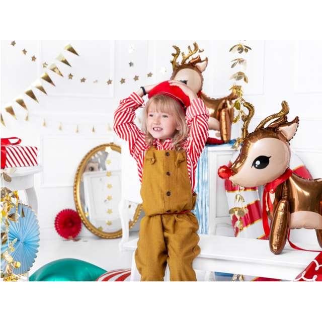 Balon foliowy Świąteczny Renifer brązowy PartyDeco 24 SHP