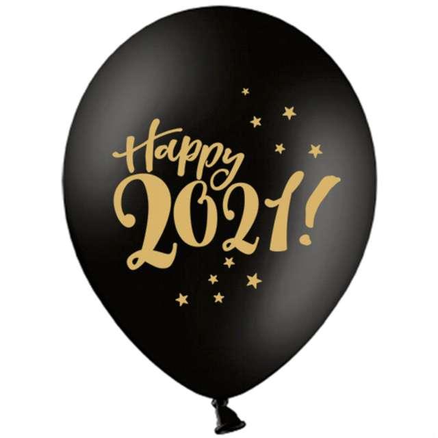 _xx_Balony 30cm Happy 2021! Pastel Black (1 op. / 50 szt.)