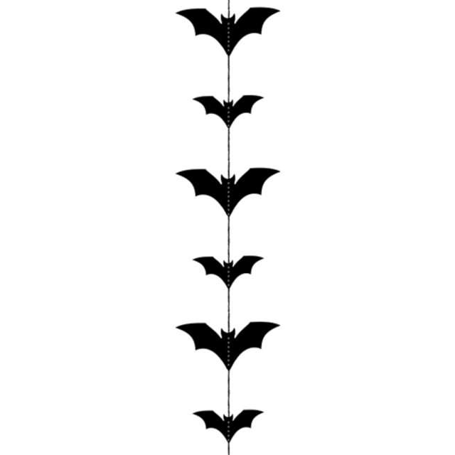 """Dekoracja wisząca """"Nietoperze"""", czarna, PartyDeco, 1,5 m"""