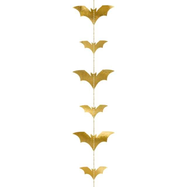 """Dekoracja wisząca """"Nietoperze"""", złota, PartyDeco, 1,5 m"""