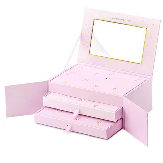 """Kalendarz adwentowy """"Szkatułka z biżuterią"""", różowa, PartyDeco"""""""