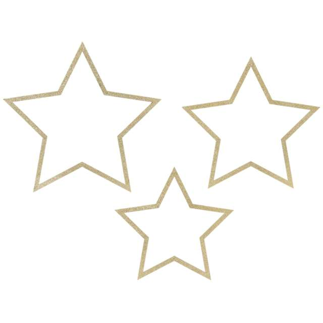 _xx_Zawieszki dekoracyjne Gwiazdy mix (1 op. / 3 szt.)