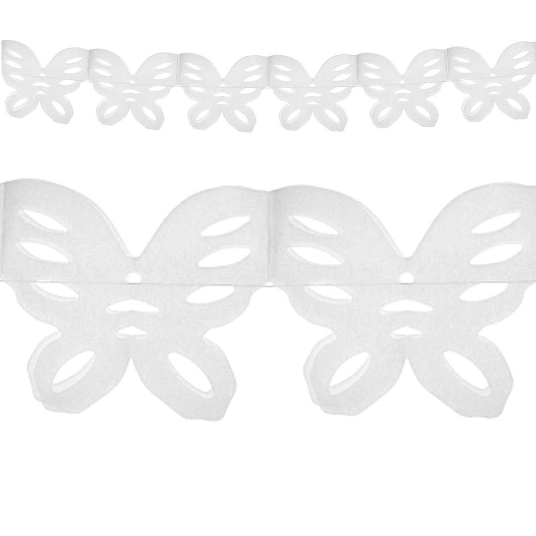Girlanda Motylki biała Godan 360 cm