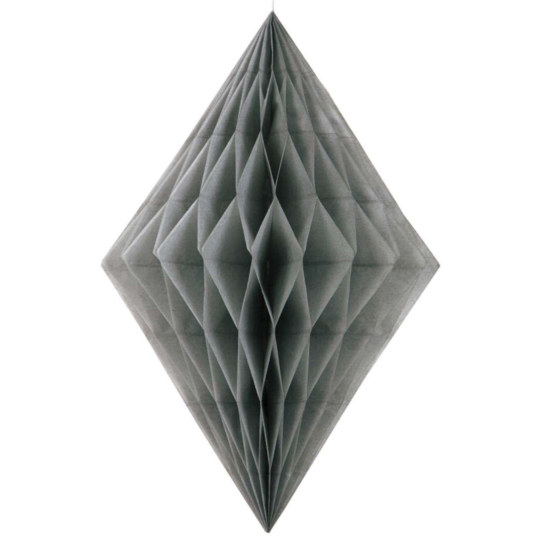 "Dekoracja ""Honeycomb Diament"", srebrna, 35 cm"