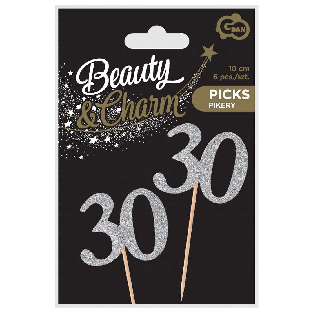 Pikery 30 Urodziny Classic srebrne  Godan