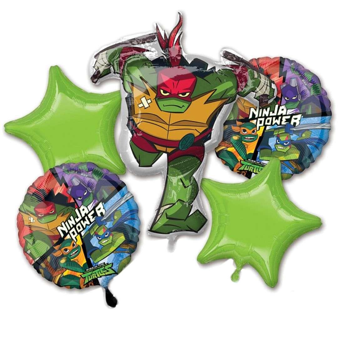 """Balony """"Wojownicze Żółwie Ninja"""", Amscan, zestaw"""