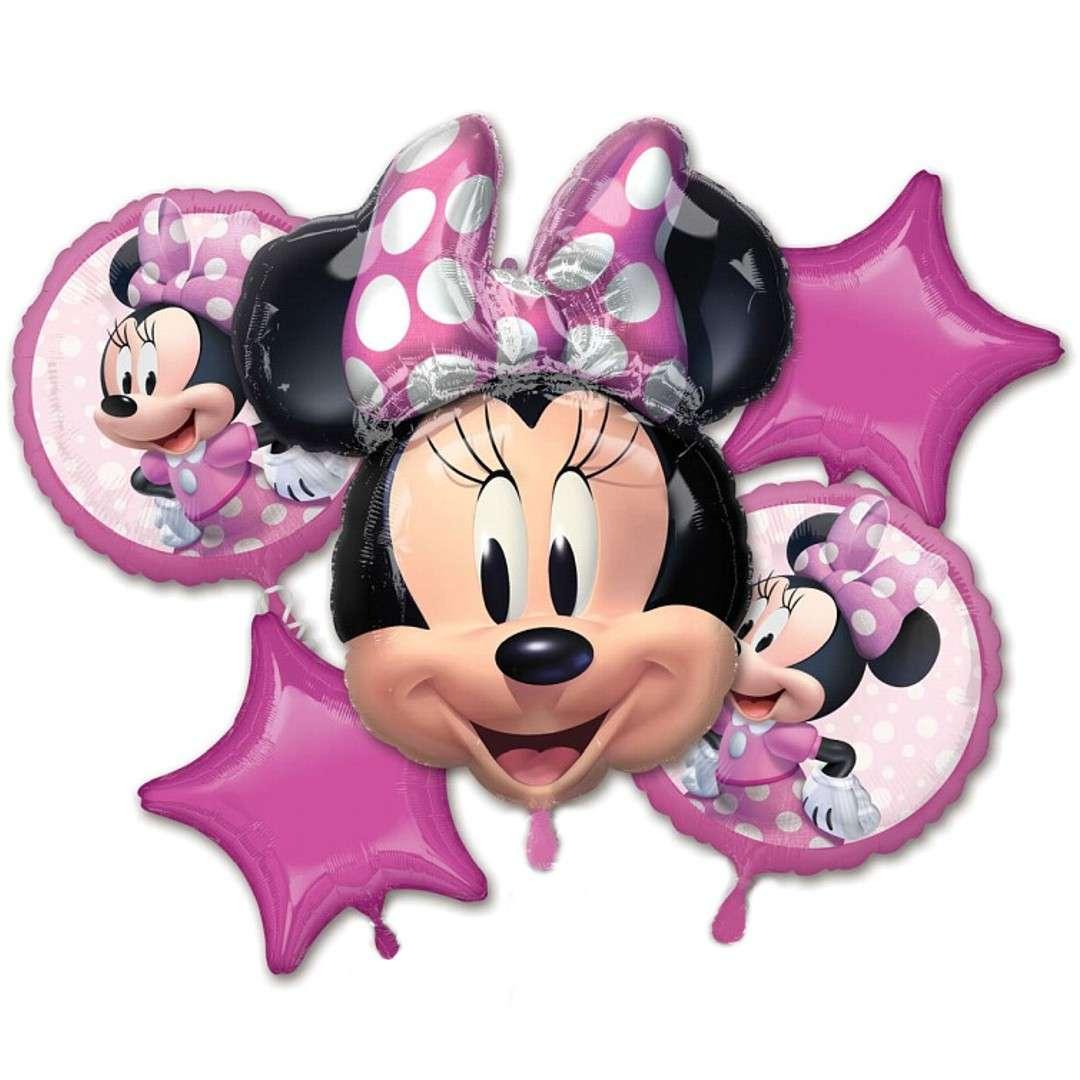 Balony Myszka Minnie Amscan zestaw