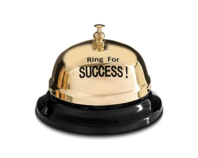"""Biurkowy dzwonek """"Czas na sukces"""", złoty, GadgetMaster"""