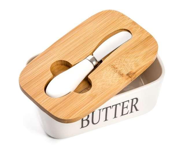 """Maselniczka z nożem """"Classic"""" ceramiczna, GadgetMaster"""