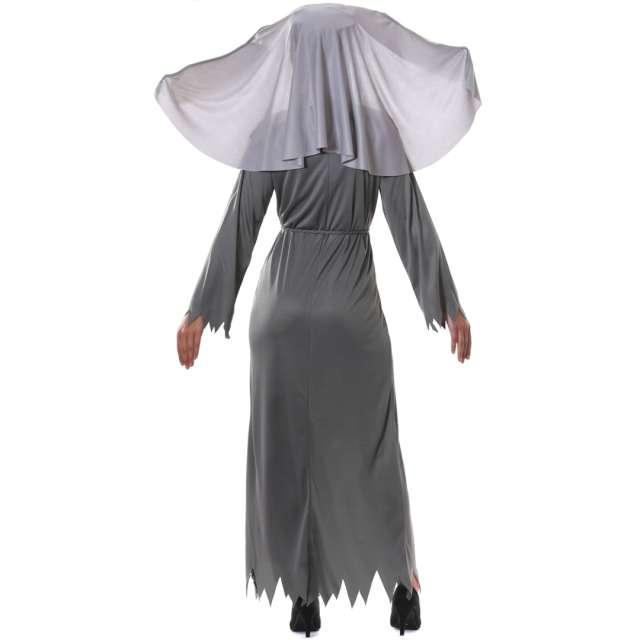 Strój dla dorosłych Diaboliczna zakonnica szary Guirca rozm. M