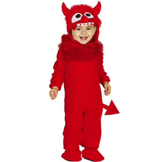 """Strój dla dzieci """"Mały diabełek Diabolo"""", czerwony, Guirca, 12-24 miesiące"""