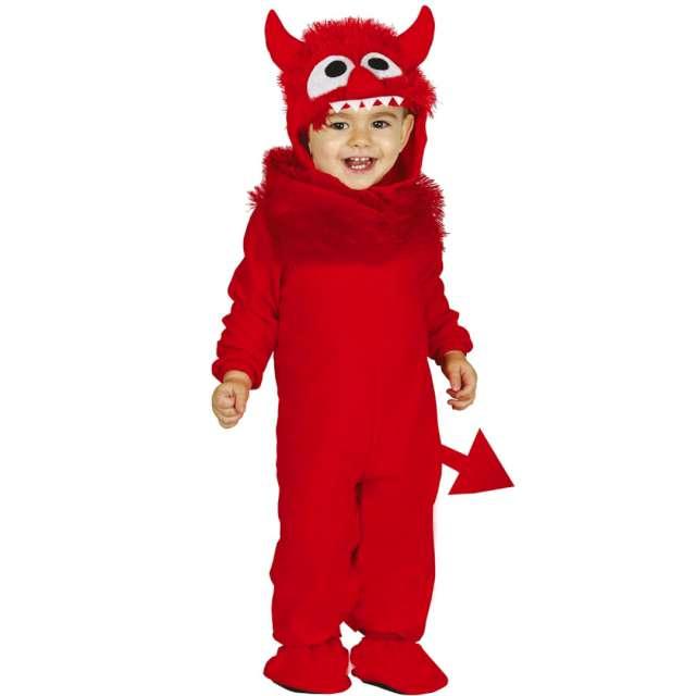 """Strój dla dzieci """"Mały diabełek Diabolo"""", czerwony, Guirca, rozm. 12-18 m-cy"""