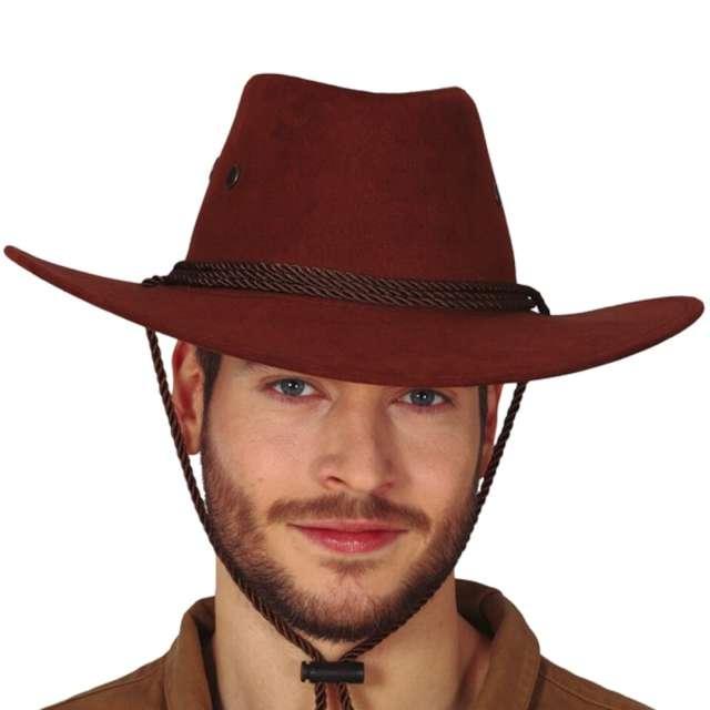 """Kapelusz """"Kowboj z Dzikiego Zachodu"""", brązowy, Guirca"""