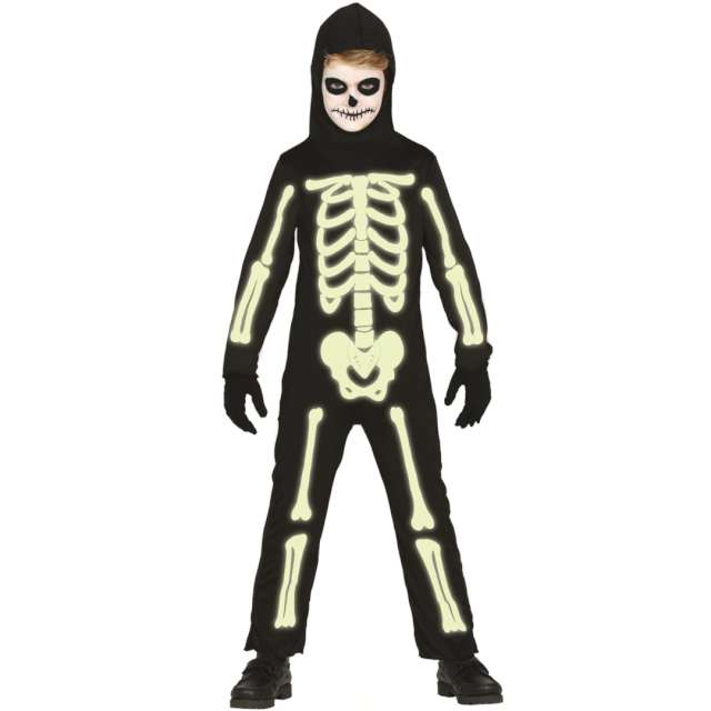 """Strój dla dzieci """"Świecący szkielet"""", Guirca, rozm. 7-9 lat"""