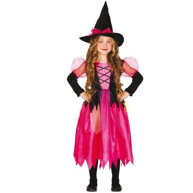 """Strój dla dzieci """"Różowa czarownica"""", Guirca, rozm. 7-9 lat"""