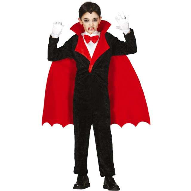 """Strój dla dzieci """"Wampir Drakula"""", czarno-czerwony, Guirca, rozm. 10-12 lat"""