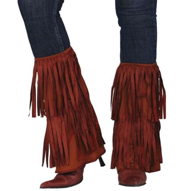 """Nakładki na buty """"Indiańskie frędzle"""", brązowe, Guirca"""