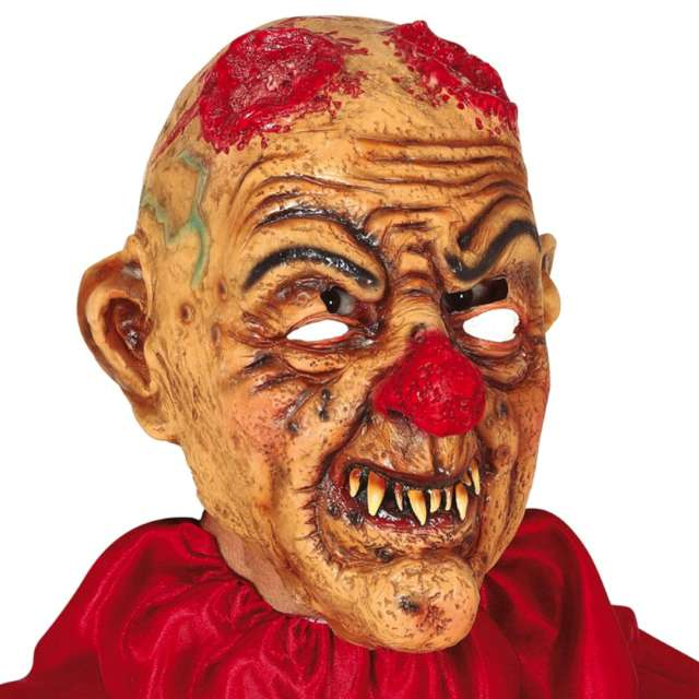 "Maska ""Klaun z urwanymi rogami"", lateksowa, Guirca"