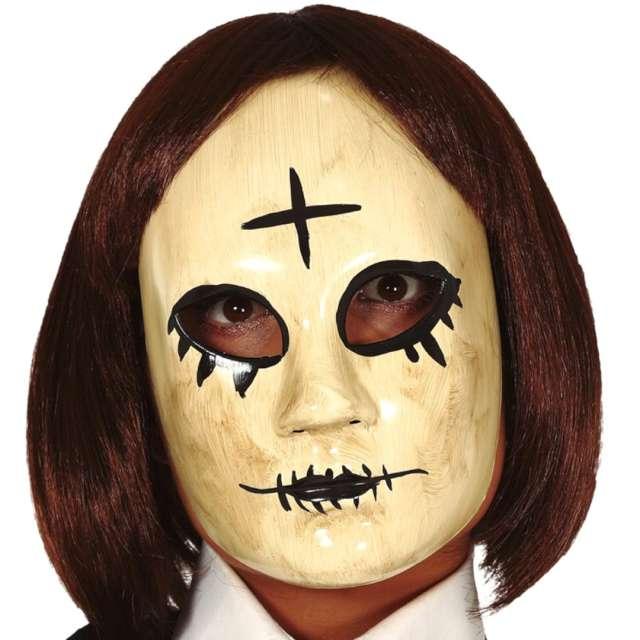 """Maska """"Kobieta z krzyżem"""", plastikowa, Guirca"""