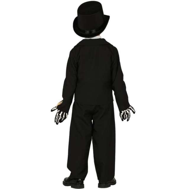 Strój dla dzieci Szkielet w garniturze czarny Guirca rozm. 7-9 lat