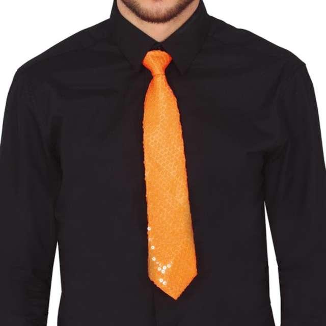 """Krawat """"Cekinowy"""", pomarańczowy, Guirca"""