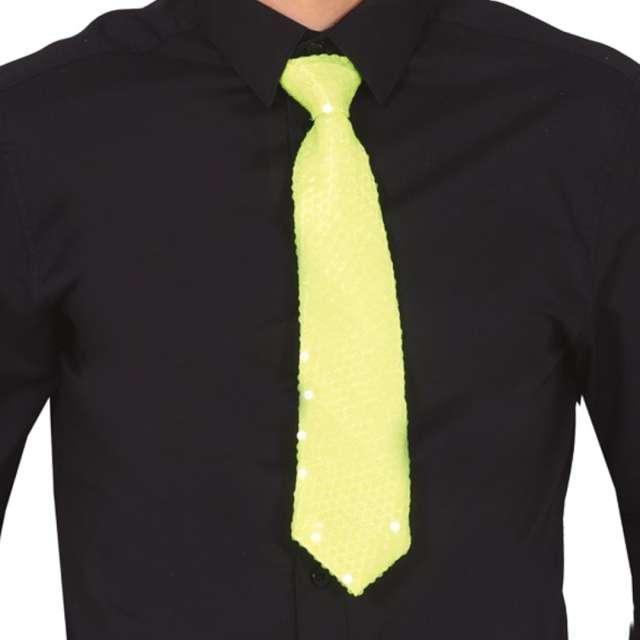 """Krawat """"Cekinowy"""", żółty, Guirca"""
