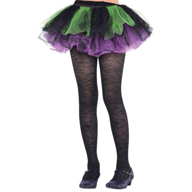 Rajstopy dla dzieci Pajęcze sieci czarne  Halloween