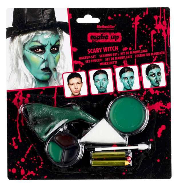 """Make-up party """"Czarownica z długim nosem"""", Amscan, zestaw"""