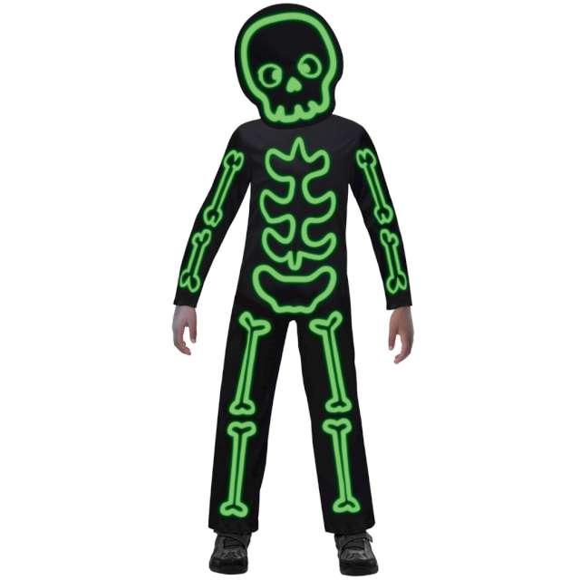 Strój dla dzieci Świecący szkielet zielony Amscan 4-6 lat