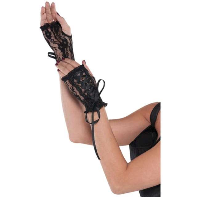 """Rękawiczki """"Gotyckie wiązane"""", czarne, Amscan"""
