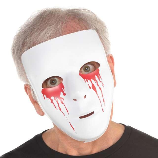 "Maska ""Krwawe oczy"", biała, Amscan"