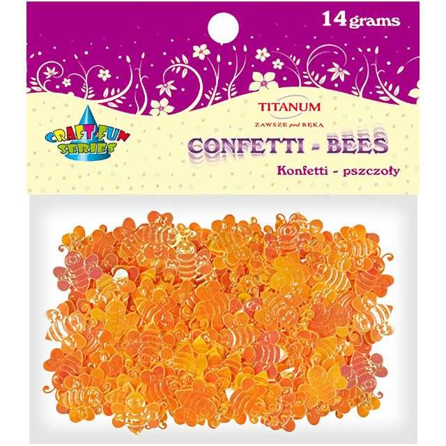 Konfetti Pszczółki pomarańczowe Titanum 14 g