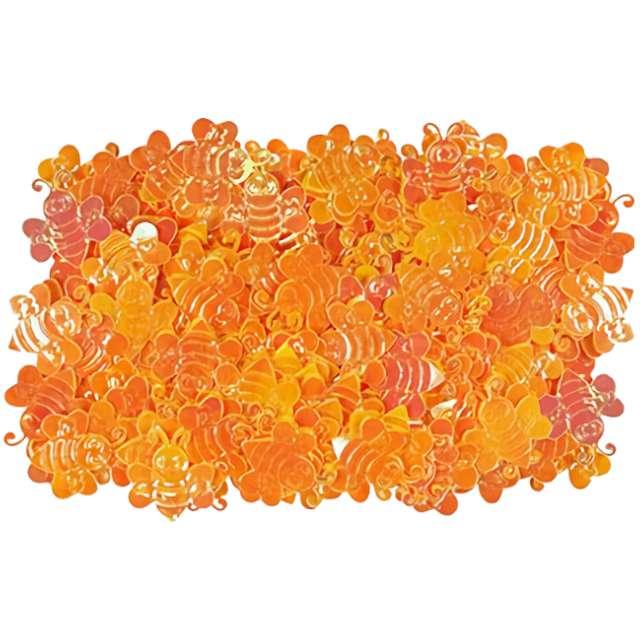 """Konfetti """"Pszczółki"""", pomarańczowe, Titanum, 14 g"""