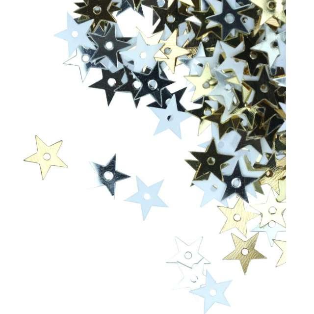 Konfetti Gwiazdki - Metaliczne srebrne Titanum 10 g