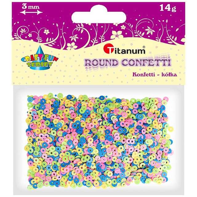 Konfetti Kółka - obręcze mix Titanum 14 g