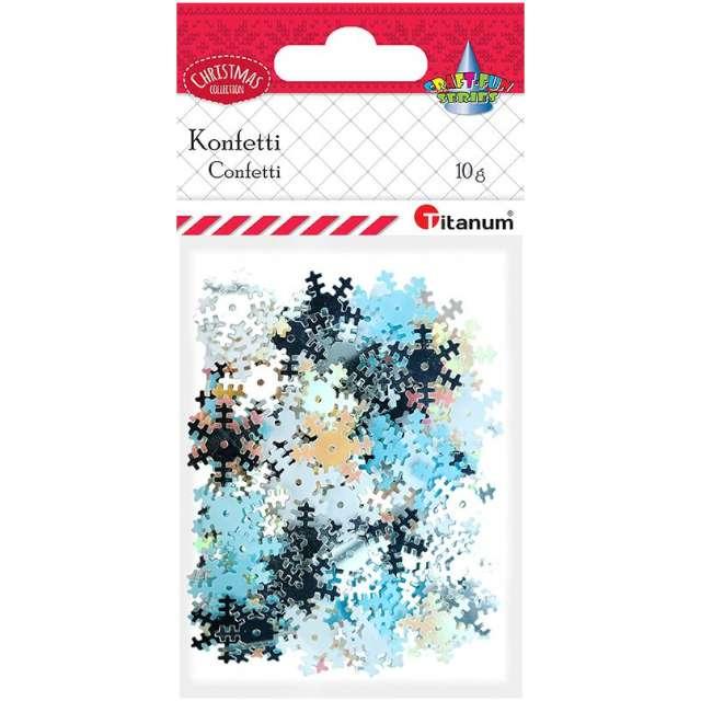 Konfetti Płatki Śniegu - metaliczne niebieskie Titanum 14 g