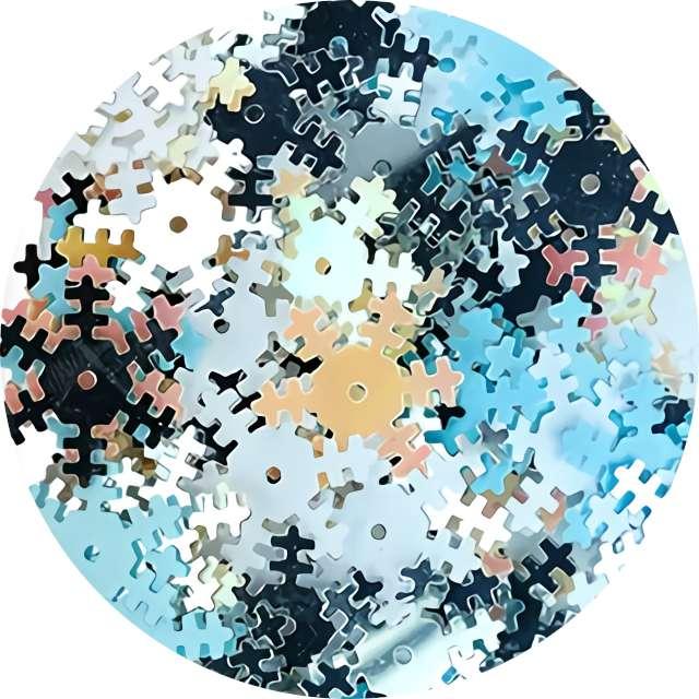 """Konfetti """"Płatki Śniegu - metaliczne"""", niebieskie, Titanum, 14 g"""