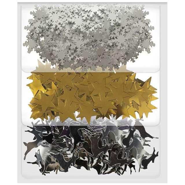 """Konfetti """"Świąteczne Metaliczne"""", mix, Titanum, 3 x 5 g"""