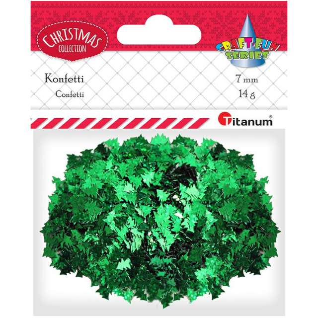 Konfetti Choinki zielone Titanum 14 g