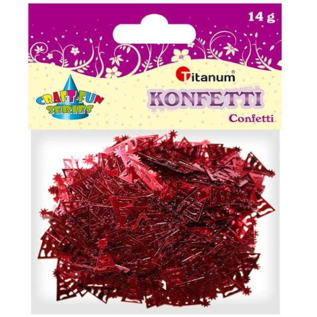 Konfetti Czapeczki imprezowe czerwone Titanum 14 g