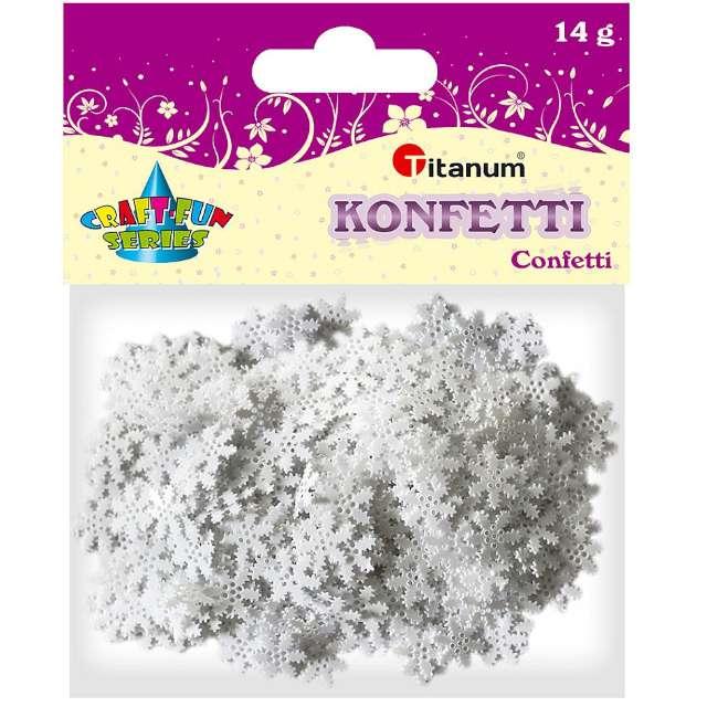 Konfetti Płatki Śniegu - ząbki białe Titanum 14 g