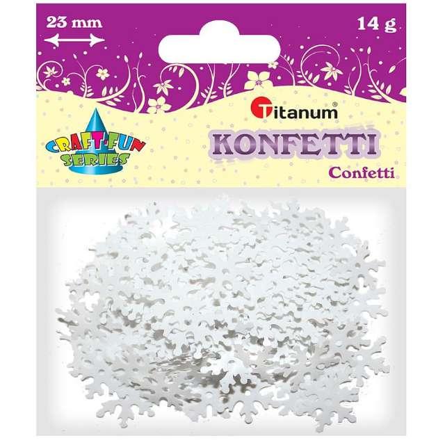 Konfetti Płatki Śniegu - grube białe Titanum 14 g