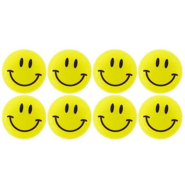 "Magnesy ""Emoji - Uśmiech"", żółte, Titanum, 20 mm. 8 szt"