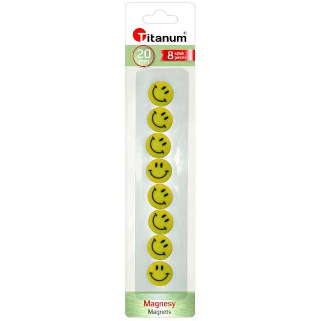Magnesy Emoji - Uśmiech żółte Titanum 20 mm. 8 szt