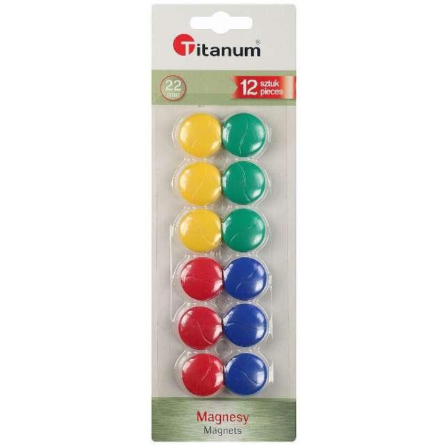Magnesy Classic mix Titanum 22 mm. 12 szt